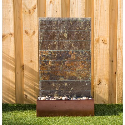 Wildon Home® Natural Stone Brook Floor Fountain with Light