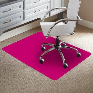 Carpet Chair Mats pink chair mats you'll love | wayfair