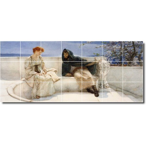 Picture Tiles Com 18 X 24 Ceramic Ivan Aivazovsky Waterfront Painting Decorative Mural Tile 34 6 X 6 Set Of 12 Wayfair