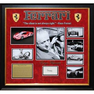 Autographed Collage 'Enzo Ferrari' Framed Memorabilia ByLuxeWest