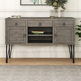 Knopf Solid Wood TV Stand for TVs up to 48 by 17 Stories