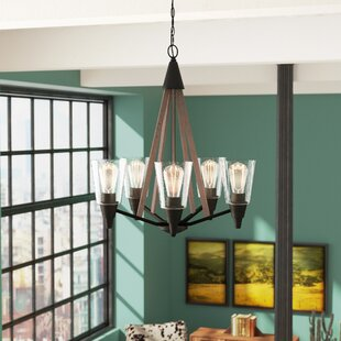 Union Rustic Rosemary 5-Light Shaded Chandelier