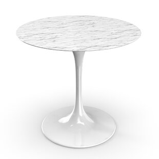 Ordinaire Faux White Marble Dining Table | Wayfair