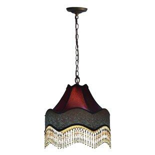 Astoria Grand Mckinnon Beaded Victorian 1-Light Dome Pendant