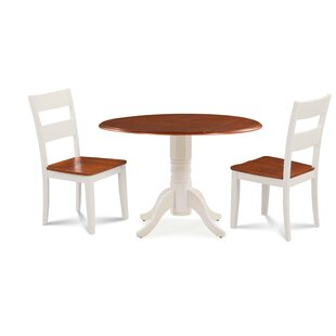 Forthill Wood 3 Piece Solid Wood Dining Set