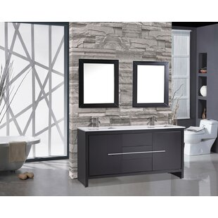 Peirce 72 inch  Double Modern Bathroom Vanity Set with Mirrors