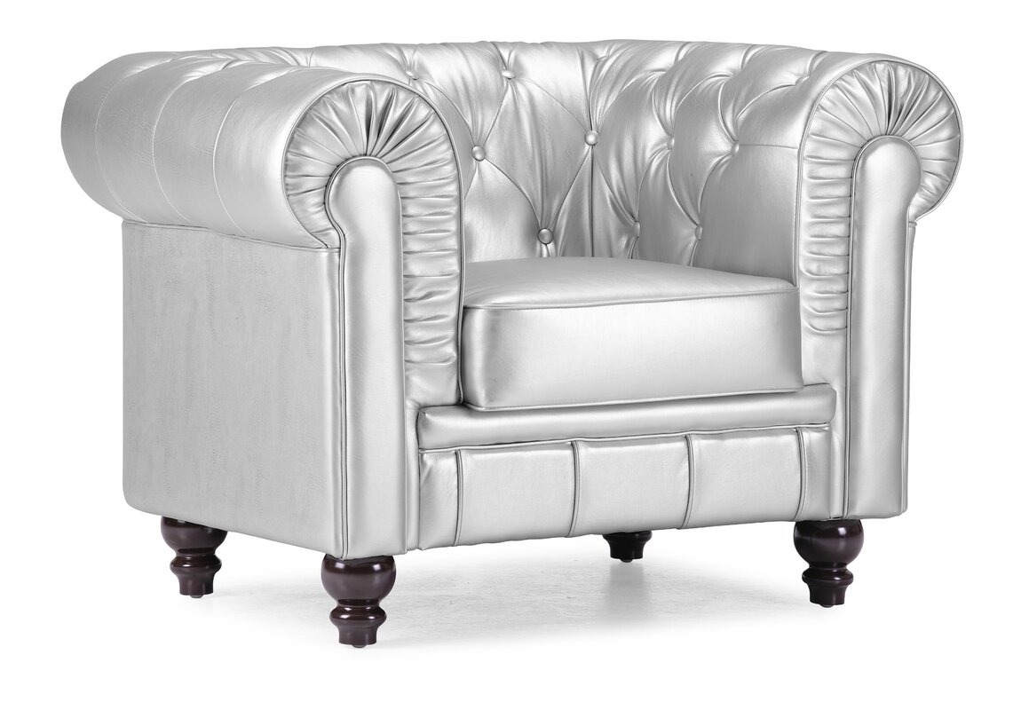White chesterfield chair - Downey Chesterfield Chair