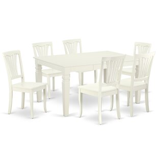 Kujawski 7 Piece Extendable Solid Wood Dining Set