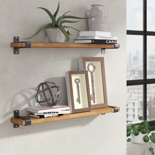 Jeterson Industrial Grace Wall Shelf (Set of 2)