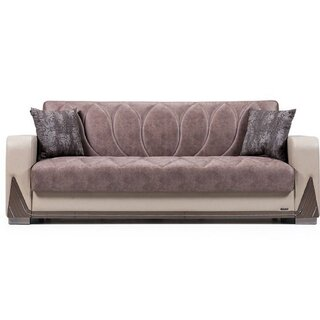 Bugatti Convertible Sleeper Sofa, Red/White by Orren Ellis SKU:DE519509 Check Price