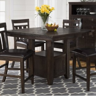 Val Wooden Pub Table Canora Grey