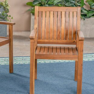 Bangor Outdoor Patio Dining Chair (Set of 2) by Millwood Pines