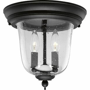 Price Check Drumakeely 2-Light Outdoor Semi Flush Mount By Alcott Hill