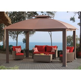 Halcombe Softtop Dome Roof 13 Ft. W x 11 Ft. D Metal Patio Gazebo by Sunjoy