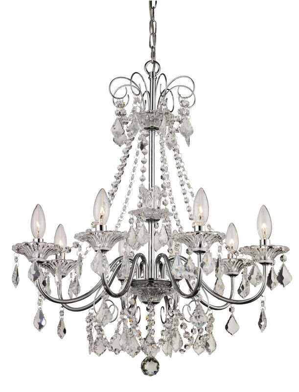 Jeter 8 light crystal chandelier