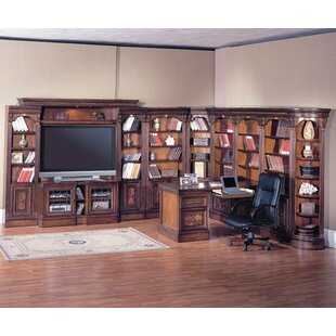 Glastonbury L-Shape Plasma Entertainment Configurable Office Set