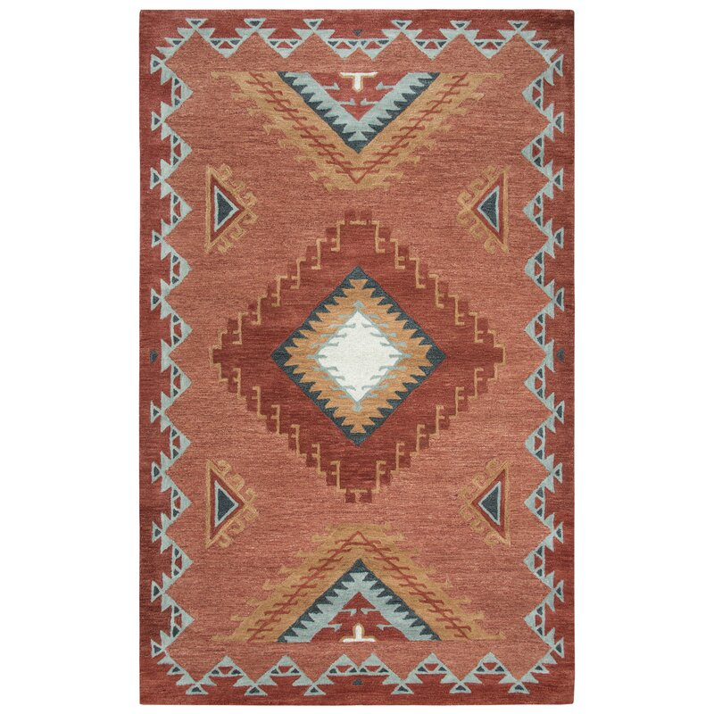 Potts Wool Rust Area Rug