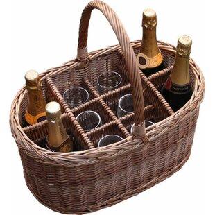 Festival Drink Oval Wine Basket By Brambly Cottage