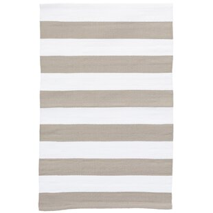 Catamaran Stripe Platinum/White Indoor/Outdoor Area Rug