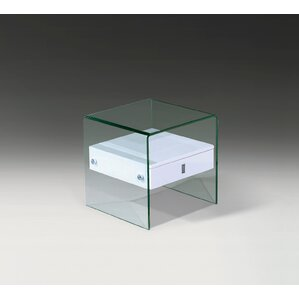 Bent Glass End Table by Creative Images Inte..
