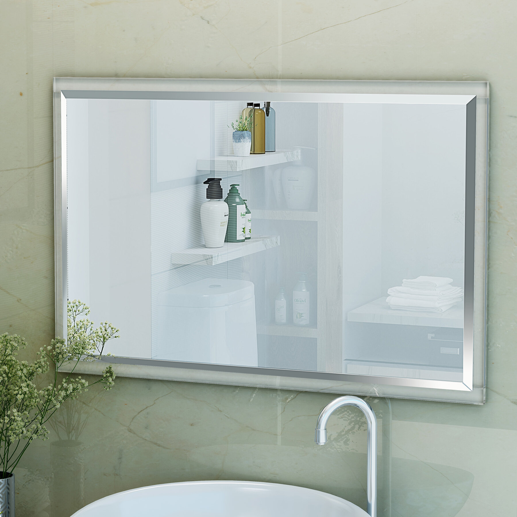Ebern Designs Emrick Wall Bathroom/Vanity Mirror | Wayfair
