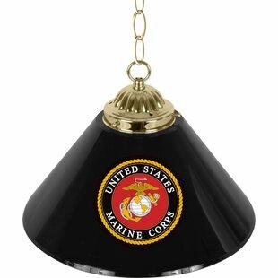 Trademark Global U.S Marine Corps 1-Light Pool Table Lights Pendant