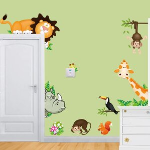 Jungle  Safari Wall Decals Youll Love Wayfair - How to get vinyl decals to stick to textured walls