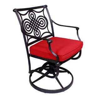 Bermuda Swivel Patio Dining Chair with Cushion (Set of 2)