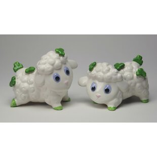 Sheep with Shamrocks 2-Piece Salt & Pepper Set ByCosmos Gifts