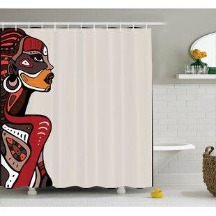 Great choice Avia African Ethno Fashion Shower Curtain ByBloomsbury Market