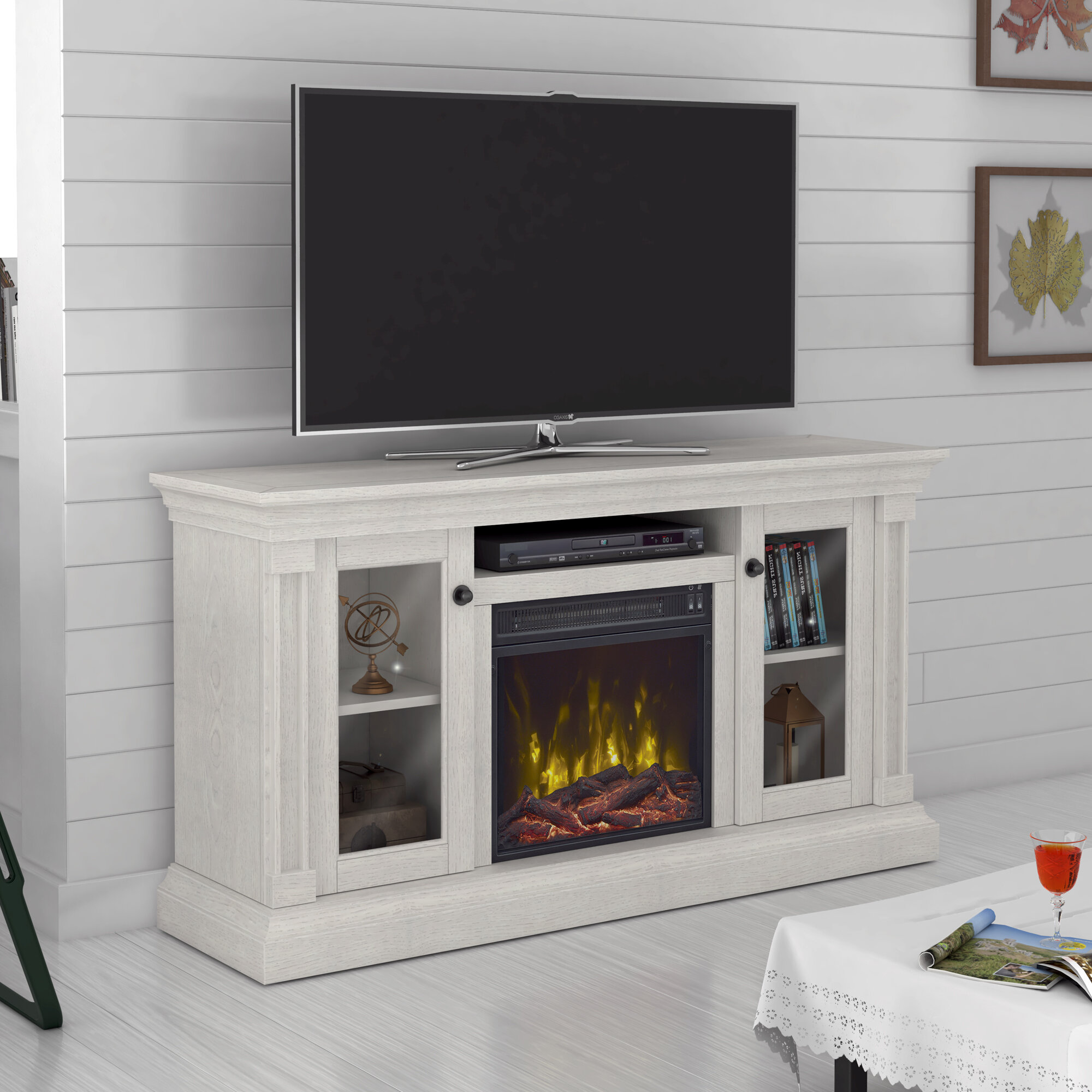 Astounding Annmarie Tv Stand For Tvs Up To 60 With Electric Fireplace Download Free Architecture Designs Ponolprimenicaraguapropertycom