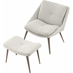 Modloft Columbus Lounge Chair and Ottoman