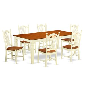 Beesley 7 Piece Buttermilk Dining Set by Darby Home Co