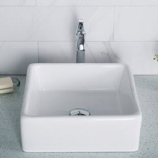 Ceramic Square Vessel Bathroom Sink Kraus