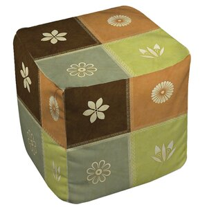 Graphic Garden Sage Ottoman by Manual Woodworkers & Weavers