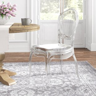 Josette Stacking Queen Anne Back Side Chair in Transparent Clear