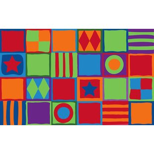 Reviews Patterned Squares Area Rug ByKid Carpet