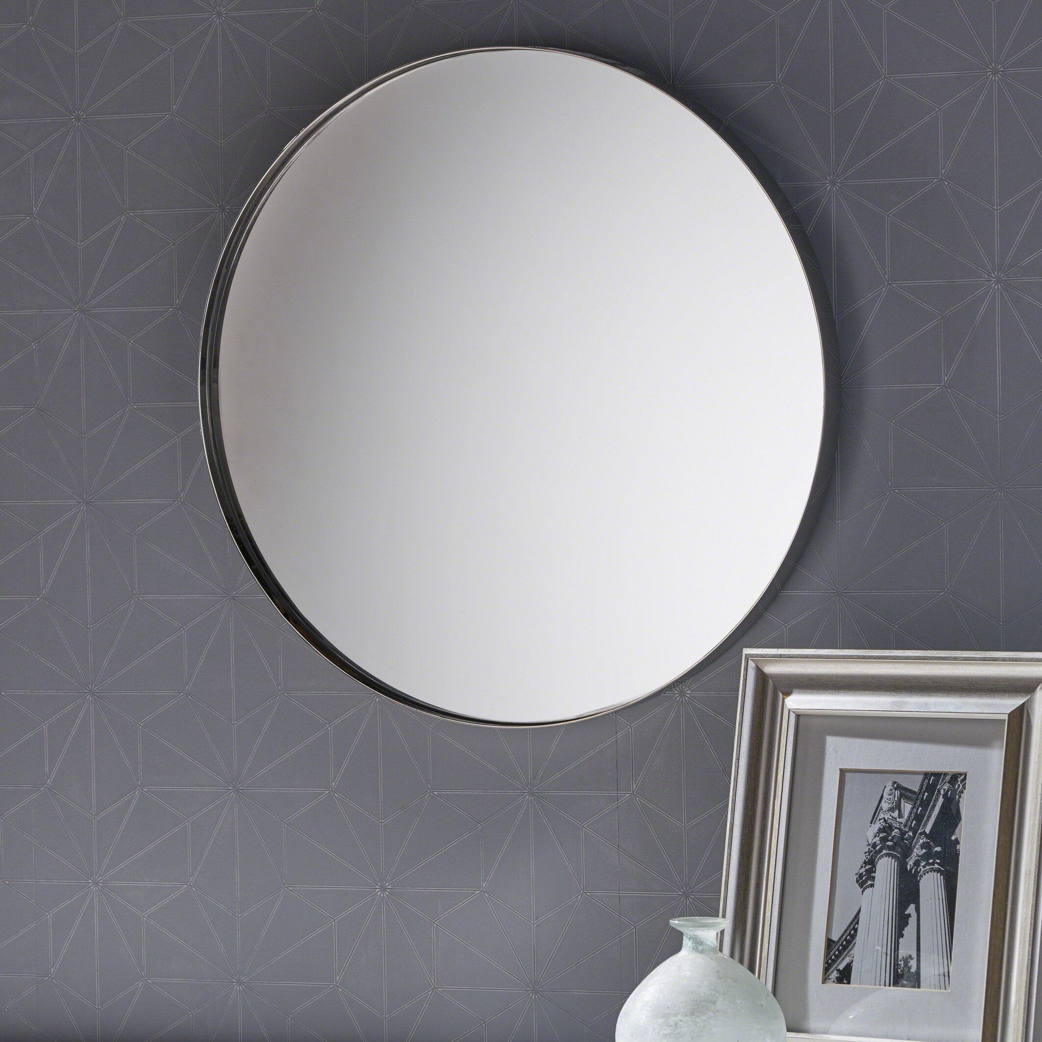 House of Hampton Murchison Circular Wall Bathroom Mirror | Wayfair