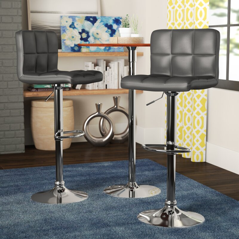 Winford Adjustable Height Swivel Bar Stool