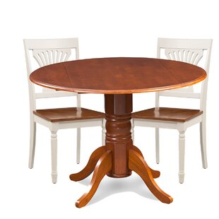 Brenton 3 Piece Drop Leaf Breakfast Nook Solid Wood Dining Set Charlton Home