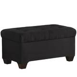 Tufted Twill Upholstered Storage Bench