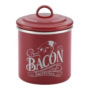 Ayesha Curry Enamel on Steel Bacon Grease Can Tin