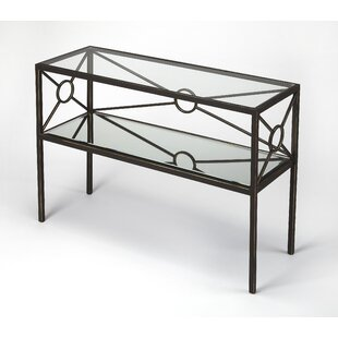 Everly Quinn Knarr Metal Console Table