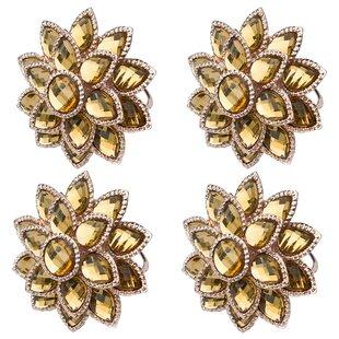Flower Mandala Napkin Ring (Set of 4)