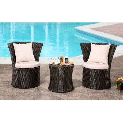 Burleigh 3 Piece Bistro Set by Orren Ellis Cheap