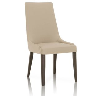 Maryam Wooden Upholstered Dining Chair (Set of 2) Latitude Run