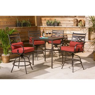 Gehlert 5 Piece Bar Height Dining Set with Cushions
