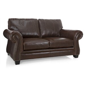 Bon Leather Loveseat by 17 Stories
