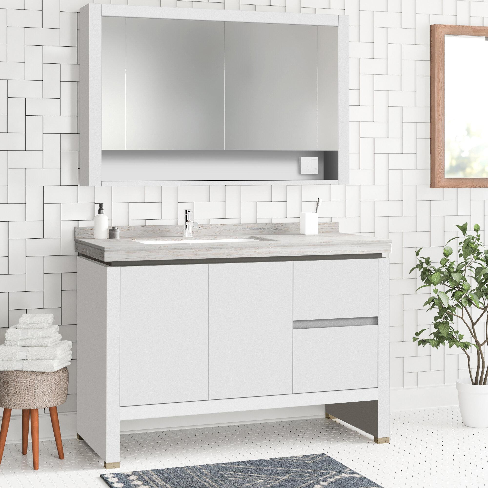 Foundstone Ferris 40 Single Bathroom Vanity Set With Mirror Wayfair