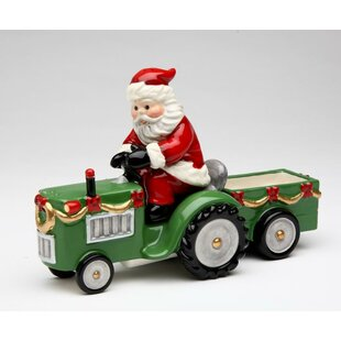 Santa Driving A Tractor Salt And Pepper Combination by Cosmos Gifts